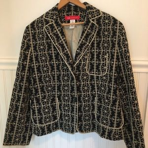 Anne Klein Embroidered Blazer- size 16